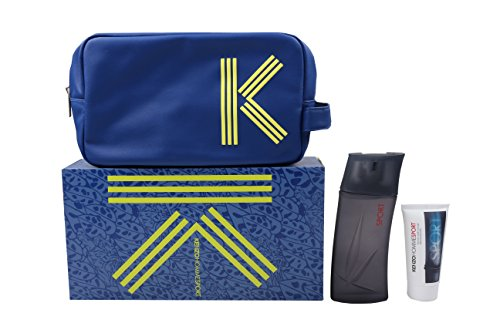 Kenzo Homme Sport Set homme/men, Eau de Toilette Vaporisateur/Spray 100 ml, Aftershave 50 ml, Kosmetiktasche, 1er Pack (1 x 150 ml)