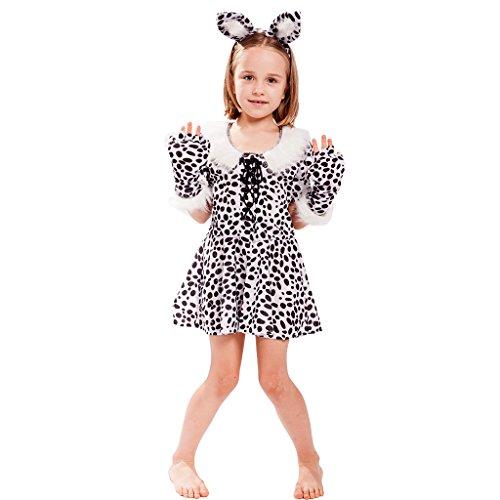 EraSpooky Mädchen Nette weiße Leopard Kostüme Karneval Tierkostüme Outfit