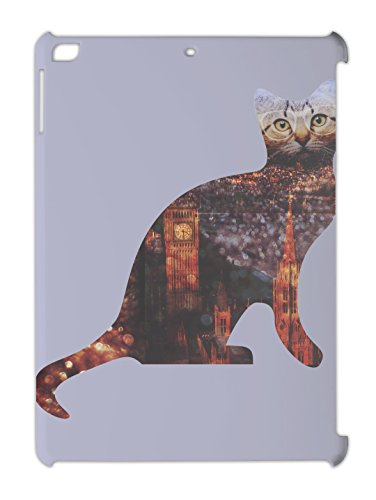 london-cityscape-hipster-cat-ipad-air-plastic-case