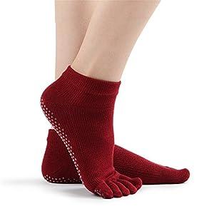 Maybesky Yoga Socken gekämmte Baumwolle Voller Herbst und Winter Dicke Antirutschsocken Pilates, Anti-Rutsch-Slip-Socken