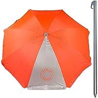 Aktive Sombrilla Filtro UV, Color Naranja neón, Diámetro 220 cm (ColorBaby 85298)