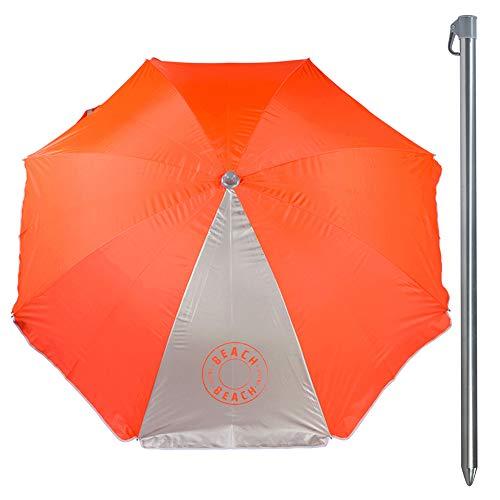Aktive - Sombrilla filtro UV, 220 cm diámetro, color naranja neón (ColorBaby 85298)