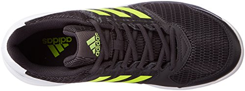 adidas Multido Essence, Chaussures de Handball Homme Noir (Utility Black/Solar Yellow/Ftwr White)