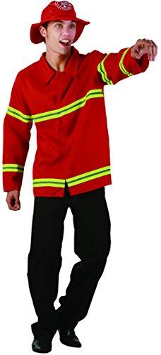 Ridere e coriandoli - Fiapol 007 - Per Costume adulto - Costume pompiere Rosso - Uomo - Taglia M