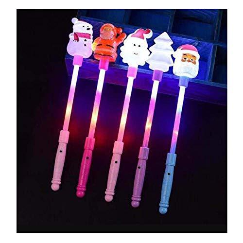 (Black Temptation LED Light Up Zauberstab Fairy Christmas Series Knicklichter für Kinder Spielzeug (4 Stück))