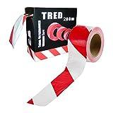 200 m Rolle Absperrband rot-weiß Flatterband Warnband Trassenband Abrollbox