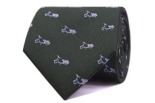 SoloGemelos - Corbata Vespas - Verde - Hombres - Talla Unica