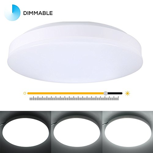 B-right 8W 9.5-inch Ultra-thin LED Ceiling Light, 4000K Natural White, 650lm-750lm Super Bright, Equivalent to 100W Incandescent, Flush Mount Ceiling Lighting for Living Room, Bedroom, Dining Room