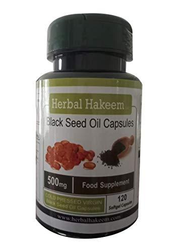 Cold Pressed Black Seed Oil Capsules 500mg x 120 capsules (Made in the UK)  - Nigella Sativa