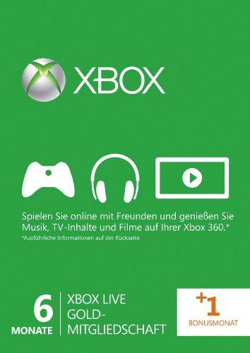 Xbox Live - Gold-Mitgliedschaft 6 + 1 - Gold-mitgliedschaft Xbox 360