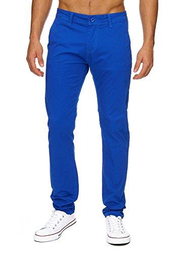 Uomo chinos | (Vestibilità slim) pantaloni estivi leggeri Jeans Chino in tessuto elasticizzato con una gamba dritta (gamba dritta) | H1736 in qualità di marca Blu