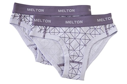 Melton Numbers, Aop Mädchen Pants, Pantaloni Bambina, Mehrfarbig (Cloud Lila 703), 10 Anni ( pacco da 2 )