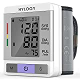 Blood Pressure Monitor, HYLOGY Digital Wrist Blood Pressure Monitor with Fully Automatic Heart Rate Pulse Detection Large LCD Display 2 User Mode, 180 Memory-Recall, FDA CE Approved