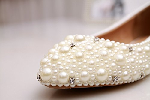 Kevin Fashion , Ballet femme Blanc - Ivory/Pearl