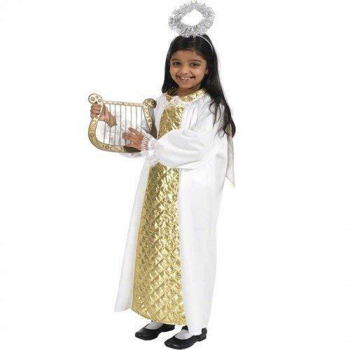 Fancy Me Mädchen Jungen Kinder Engel Gabriel Weihnachten Krippe Verkleidung Kostüm Outfit 6-7-8 Jahre (Engel Krippe Kostüm)