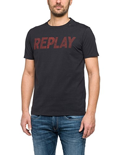 Replay Men's Men's Blackboard T-Shirt With Print 100% Cotton Blackboard