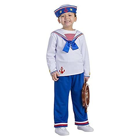Dress Up America - 776-S - Déguisement de marin - S 4-6ans - taille 107cm - Multicolore