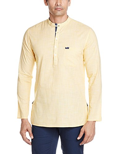 Peter England Men's Waist Length Cotton Kurta