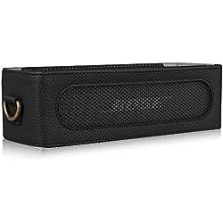 Fintie Bose SoundLink Mini I/II Étui Housse Case - Protecteur PU Cuir Voyage Etui Pochette Sac avec Ceinture Amovible pour Bose Enceinte Bluetooth SoundLink Mini I/II, Noir