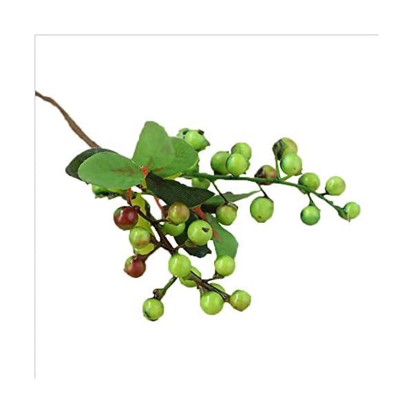 Otun 10 Piezas de Acacia Bean Simulación Berry Artificial Flor Simulación Arreglo de la Planta Accesorios Berry pequeño…
