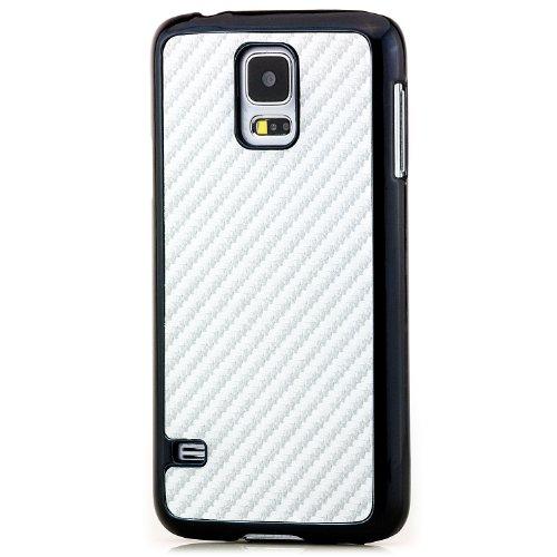 Saxonia iPhone 6 / 6S Plus Coque Case Premium Hard-Case Cover Housse Etui Protection Look Carbon (Design) Blanc Gris