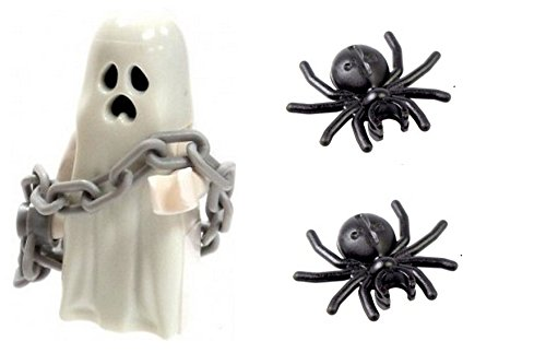 LEGO Monster Fighters Minifigure: Glow in the Dark Ghost & Chain & 2 Spiders by LEGO