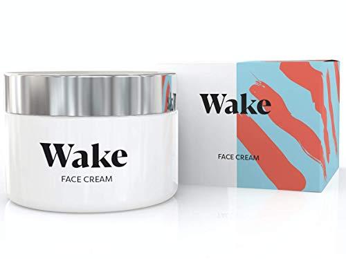Wake Skincare Gesichtscreme -Effektive Anti-Falten-Feuchtigkeitscreme mit natürlichen Antioxidantien und aktiven Anti-Aging-Eigenschaften zur Verringerung von Falten - 50ml -