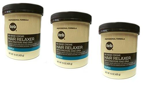 Base Creme Hair Relaxer (3x Relaxer/Glättungscreme TCB No Base Creme Hair Relaxer SUPER 425g (insgesamt - 1275g))