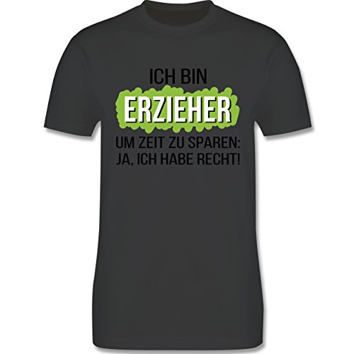 Sonstige Berufe - Erzieher - Herren Premium T-Shirt Dunkelgrau