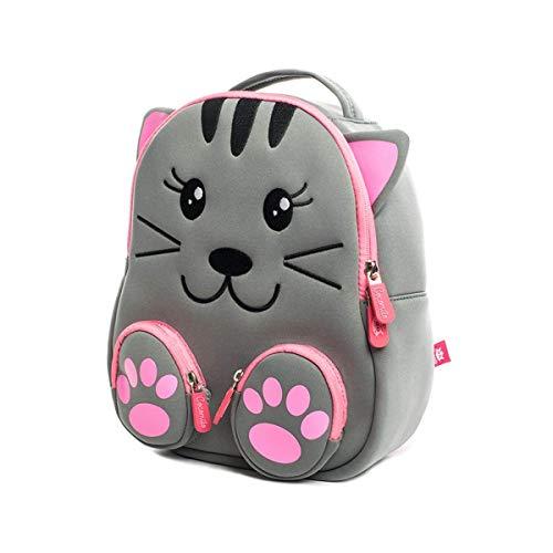 kind Tasche mit Brustgurt für 2-5 Jährige Jungen und Mädchen im Kindergarten oder Kita, Cat ()