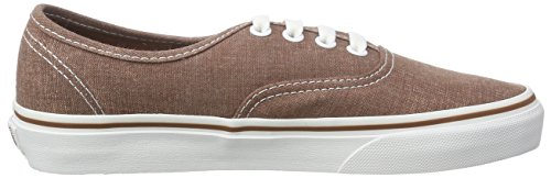 Vans U Authentic Washed Sneakers, Unisex Marrone (washed brown)