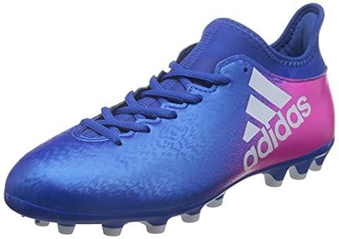 adidas X 16.3 Ag, Chaussures de Futsal Homme, Bleu (Blue / Ftwr White / Shock Pink), 42 EU