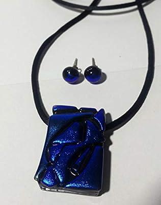 TRENCADIS BLEU II - Bijoux en verre inspiré par Gaudí