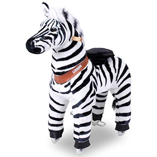 """Ponycycle """" Marty """" Zebra, Pony auf Rollen fahrendes Schaukelpferd und Kuscheltier für Ihr Kind von MyPony (Medium)"""