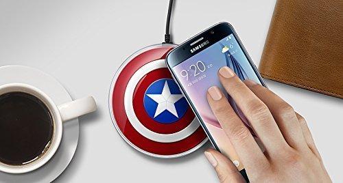 Tech Corp Captain America DE Drahtlos Wireless Induktive Ladestation/Ladegerät für Samsung Galaxy S7/S7 Edge Note 5 - 4