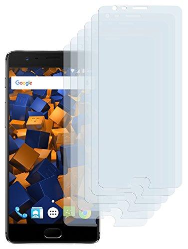 mumbi Schutzfolie kompatibel mit OnePlus 3 Folie, OnePlus 3t Folie klar, Displayschutzfolie (6x)