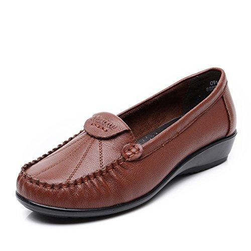 chaussures asakuchi mère/Au milieu en bas doux et de vieilles femmes âgées pointure/Chaussures à talon plat C