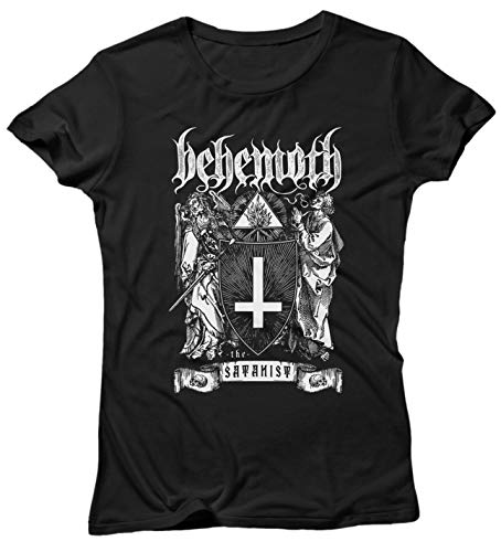 LaMAGLIERIA Damen-T-Shirt Behemoth The Satanist - 100% Baumwolle Black Metal Band, M, Schwarz Damen-black Metal