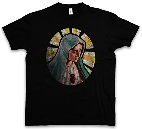 Holy Mary T-Shirt – Heilige Maria Mutter Gottes Mother Bloody Christ Jesus Religion Ave Amen Church Holy Ghost Father Son Rosary Rosenkranz Größen S – 5XL (T-shirt Jesus Christ)
