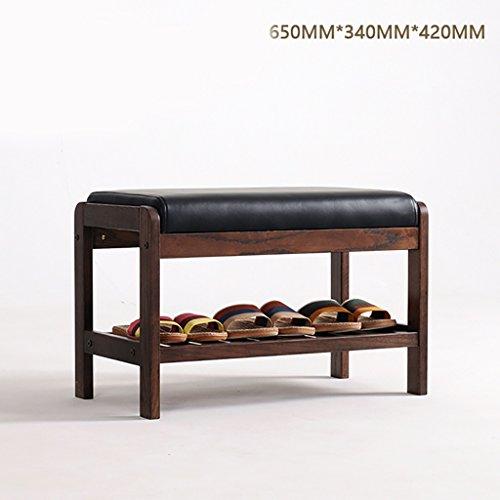 Facile à installer, durable Étagère à chaussures en bois massif, salon chambre chaussures tabouret, chêne chaussures de haute qualité tabouret(taille : 650 * 340 * 420mm)