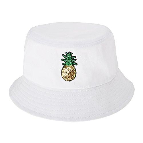 üß Eimerhut Fischerhüte (Ananas, Weiß) ()