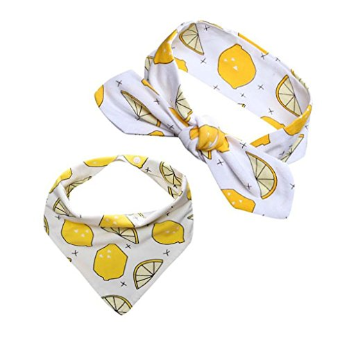 kingko® Männer und Frauen Baby Speichel Handtuch 2 Sätze von Kopf Reifen Dreieck gesetzt (B) (Dreieck-spitze Gesetzt)