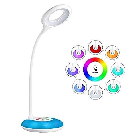 Lampe de bureau LED, HIHIGOU Dimmable LED Lampe de Lecture