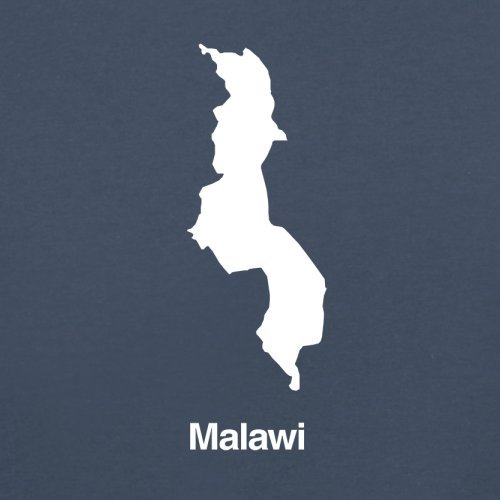 Malawi / Republik Malawi Silhouette - Herren T-Shirt - 13 Farben Navy