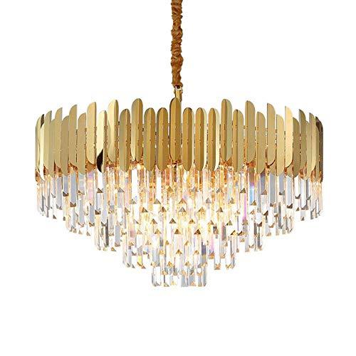 Diseño cristal redondo iluminación lámpara sala