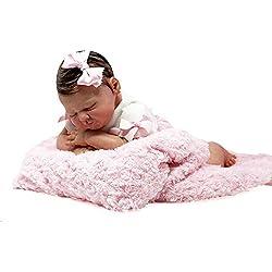 Muñeca Bebé Recién Nacido, Reborn Original, Oficial y Certificada - Hiperealista, Hecha y Pintada a Mano, Vinilo de Silicona Suave, Cuerpo de Tela de Algodón - 50 cm