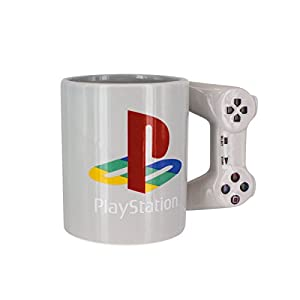 Playstation Tasse in Form PS4-Controller, Dual Shock-Kaffee- / Teetasse, Retro-Gaming-Trinktasse, Keramik-Sammlerstück, offizielles Lizenzprodukt, Standard-UK-Größe, 300 ml