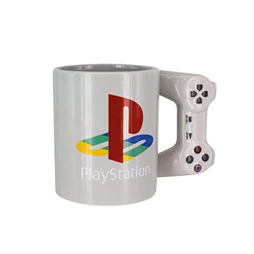 Playstation Tasse in Form PS4-Controller, Dual Shock-Kaffee- / Teetasse, Retro-Gaming-Trinktasse, Ke