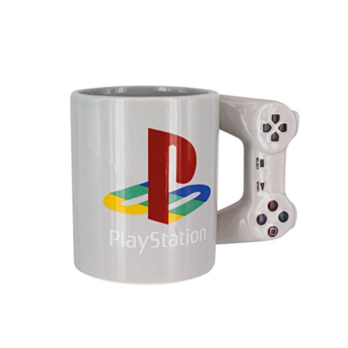 Playstation Tasse in Form PS4-Controller, Dual Shock-Kaffee- / Teetasse, Retro-Gaming-Trinktasse, Keramik-Sammlerstück, offizielles Lizenzprodukt, Standard-UK-Größe, 300 ml -
