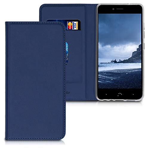 kwmobile bq Aquaris X2 / X2 Pro Hülle - Kunstleder Handy Schutzhülle - Flip Cover Case für bq Aquaris X2 / X2 Pro